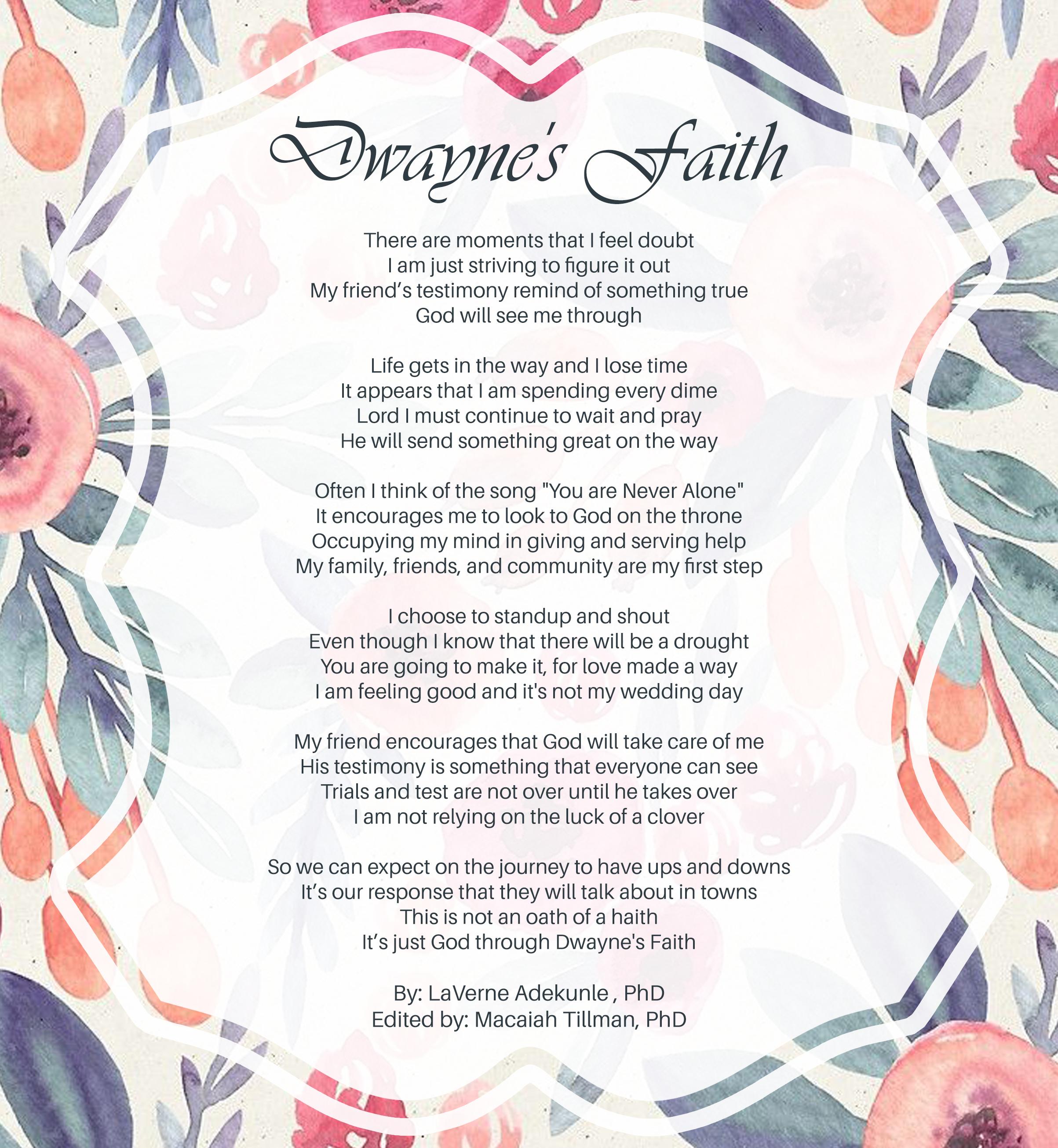 Dwayne's Poem and Music Contest | la Expose'